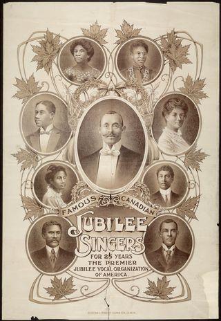 Canadian Jubilee Singers flyer
