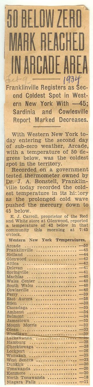 50 Below Zero Feb 1934 article